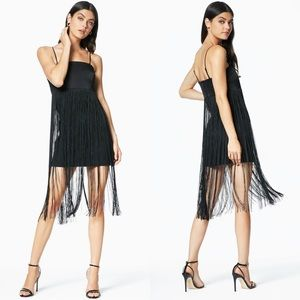 Ramy Brook Rikki Fringe Strapless Mini Dress